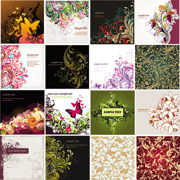 floral-background-vector-collection